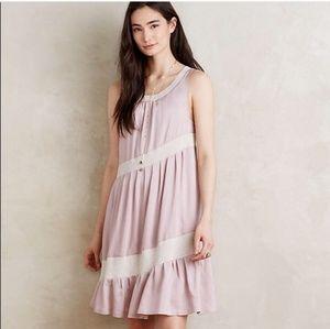 Anthropologie Dresses - Anthropologie Maeve Wildell Mauve Swing Dress SZ S